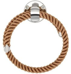 NAUTILUXE COLLECTION Nautical Rope Towel Ring with polished chrome fittings. Four rope colors: Natural, Navy, Black & Brown. Price:165