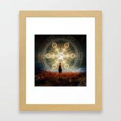 The Open Door Framed Art Print by seamless Surreal Collage, Wall Decor, Wall Art, Door Opener, Sci Fi Art, Framed Art Prints, Wall Tapestry, Surrealism, Mona Lisa