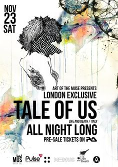 Art Of The Muse Grand Launch feat. Tale Of Us | Oval Space | London | https://beatguide.me/london/event/oval-space-art-of-the-muse-grand-launch-w-tale-of-us-all-night-long-20131123/poster/