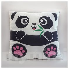 12 x 12 Panda almohadas animales de la selva animales de por mymimi