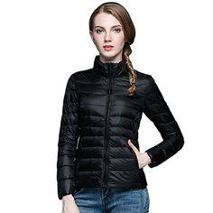 gwell Mujer Ultra Ligero Chaqueta de plum¨®n abrigo de invierno ¨¹bergangsjacke