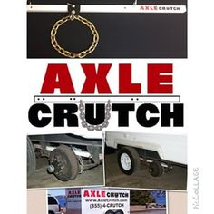 Travel with #peaceofmind when you are #towing by carrying the #AxleCrutch or #AxleCrutchHD!  The AxleCrutch provides temporary support whenever you experience #axle #wheel #tire #bearing #hub #spindle or other #suspension #failure on a #multiaxle #leafspring system.