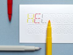This is a handy do-it-yourself card that has been letter-pressed and allows you to write/colour-in your own message.    It can be purchased here from the design company Present & Correct. I would definitely like to try it out.    This information was originally found at Desktop Mag.
