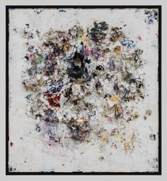 Recipe For A Painter: Michael Chow Aka Zhou Yinghua ~O-O~ My Heart Belongs To Dada II (2013) Mixed media: household paint with precious metals and trash 182.88 x 167.64 cm (72 x 66 in.)