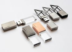 Empty Memory USB flash drives by Yoo-Kyung Shin and Hanhsi Chen for Logical Art. These are fantastic.