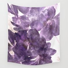 Purple Blossoming Wall Tapestry by ARTbyJWP from Society6 #walltapestry #tapestry #walldeco #purple #floral  ---   Available in three distinct sizes, our Wall Tapestries are made of 100% lightweight polyester with hand-sewn finished edges. Featuring vivid colors and crisp lines, these highly unique and versatile tapestries are durable enough for both indoor and outdoor use. Machine washable for outdoor enthusiasts, with cold water on gentle cycle using mild detergent - tumble dry with low…