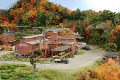 """Railroad Line Forums - The Gallery: Mar. """"Towers: Water, Coal & More"""" N Scale Trains, Ho Trains, Model Trains, Ho Scale Train Layout, Ho Train Layouts, Diorama, Oil Refinery, Model Building, Scale Models"""