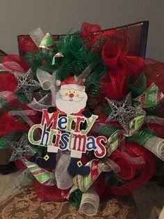 Santa wreath $40