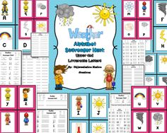 Weather Alphabet Scavenger Hunt: Upper and Lowercase Letters. Preschool, kindergarten, interventions, special education, homeschool. Differentiated. $