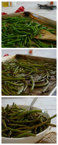 Livened up with sesame and soy, these roasted green beans are anything but boring and take only 20 minutes.