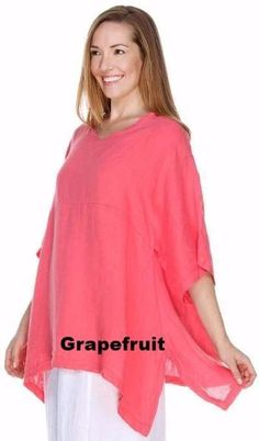 If you already own this tunic, please email me the measurements. Match Point Linen Kimono Pullover Many Colors Small Medium and Large Sizes lightweigh. Womens Linen Clothing, Exactly Like You, Match Point, Kimono Fashion, Bra Sizes, Tunic Tops, Pullover, Model, How To Wear