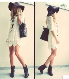 Love her hat and dress