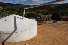 Cada cisterna tem capacidade para acumular 16 mil litros de água da chuva | Divulgação/Sedinor