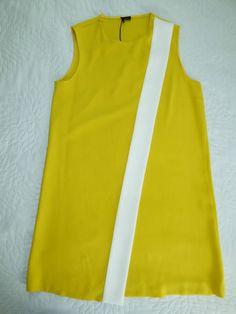 Robe bicolore jaune et blanche JOSEPH - T42