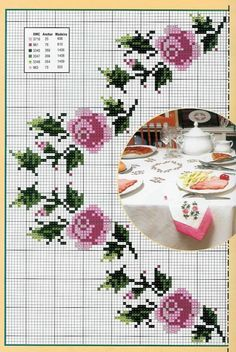 Pin by Sweetheart Flowers on Salon Flowers Cross Stitch Rose, Cross Stitch Borders, Cross Stitch Baby, Cross Stitch Flowers, Cross Stitch Designs, Cross Stitching, Cross Stitch Embroidery, Cross Stitch Patterns, Rico Design