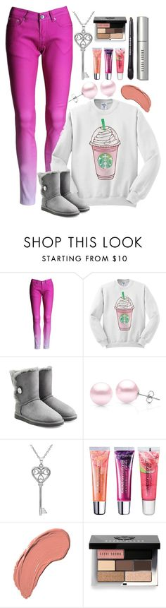 """""""But First, Coffee"""" by lovecarabear ❤ liked on Polyvore featuring UGG Australia, Suzy Levian, Amanda Rose Collection, Maybelline, NYX and Bobbi Brown Cosmetics"""