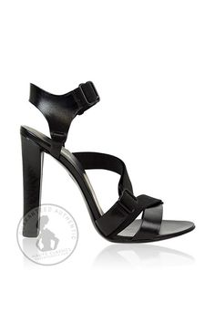 ALEXANDER WANG Black Leather Strapped Sandals (Size 39) - Haute Classics - Authentic Luxury Designer Consignment