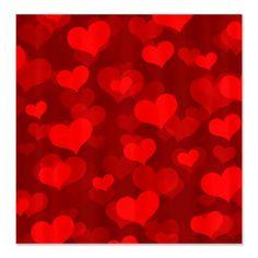 Hearts Abound Shower Curtain