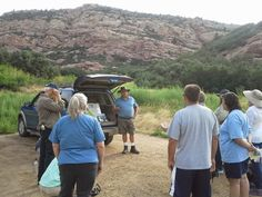 2014 Project Archaeology in Colorado. Jack Warner, President of the Colorado Archaeological Society, leads the group. The group enjoyed seeing the sites at the only archaeological National Register District physically located within the Denver-Metropolitan area. #PreserveCO