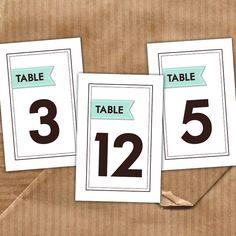 cute table numbers