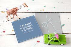 Faire-part de mariage (wedding card) : Marrons-nous 4 pages - by Marion Bizet pour www.rosemood.fr/ #mariage #wedding #fairepart