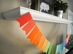 Rainbow Paint-Chip Garland for st. pattys