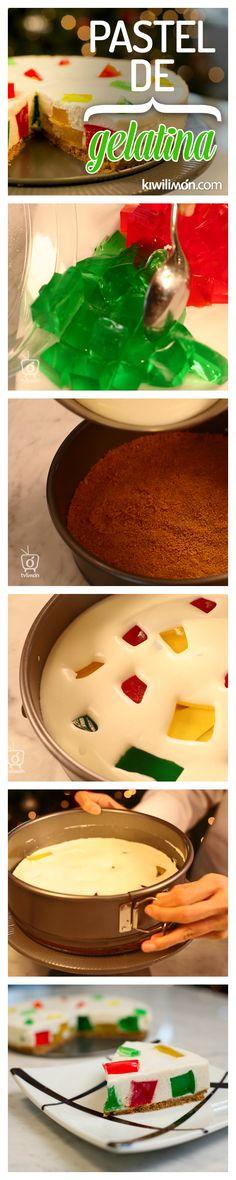 Este postre es una locura de sabor, combina gelatina + pastel. Dos postres deliciosos que juntos forman la receta perfecta.