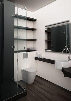 Créer une petite salle de bain design c'est possible ! Une déco minimaliste et une organisation précise, de quoi apporter de la modernité. O-Kera by Okite