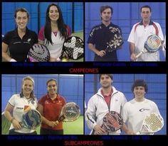 Campeones y Subcampeones del master masculino y femenino del 2012 realizado en G6