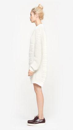 9c2ae0849534 Public School Knit Sweater Dress in Ivory   The Dreslyn Strickkleid, Public  School, Strickjacken