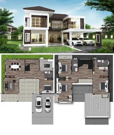 Four Bedroom Two Storey House and 2-Car Garage