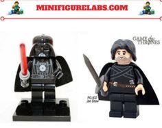 Minifigure Custom Lego Printed 2PCS Jon snow & Darth Vader Starwars -    Edit Listing  - Etsy