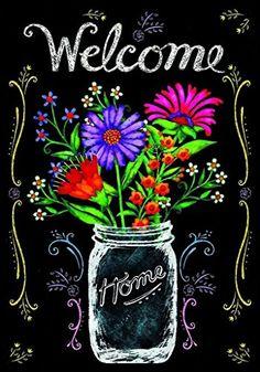 Wildflower Jar - summer garden flag