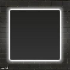 Square white neon light frame template vector | premium image by rawpixel.com / Aew Black Background Images, Beige Background, Geometric Background, Lights Background, Background Patterns, Black Backgrounds, Framed Wallpaper, Neon Wallpaper, Frame Template