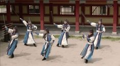 Hwarang dancing needs a bit more coordination. The idols up front? No problem. In the back? Well…