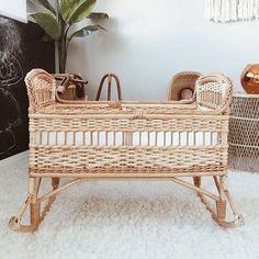 The sweetest wicker crib  via @sarahshabacon | #LilLemons #inspo