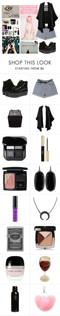 """""""I don't wanna be your friend"""" by barr4cuda ❤ liked on Polyvore featuring Vans, Yves Saint Laurent, Christian Dior, Kendra Scott, NYX, Zippo, Chanel, Marc Jacobs, Oribe and Forever 21"""