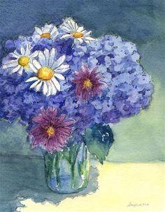 "Daily Paintworks - ""Amys Bouquet"" - Original Fine Art for Sale - © Vikki Bouffard"