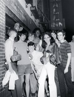 Protesters during the second night of the Stonewall Uprising, June 1969 Stonewall Inn, Stonewall Riots, Sylvia Rivera, Stonewall Uprising, Nyc Pics, Lgbt History, Lgbt Couples, Young People, Night Club