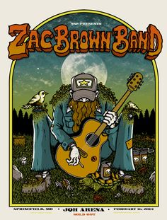 Eric Church & Zac Brown Band Posters by Matt Leunig On Sale Rock Posters, Band Posters, Concert Posters, Music Posters, Gig Poster, Country Music Videos, Country Music Singers, Zac Brown Band, Eric Church