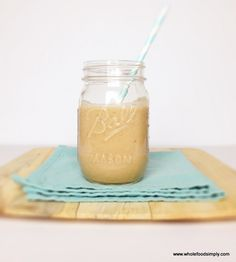 Caramel milkshake sweetened naturally with coconut milk and dates. #dairyfree #vegan