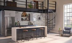A Contemporary Take on Face Brick in the Kitchen - SA Decor & Design Stone Kitchen, Kitchen Dining, Barbour, Thin Brick Veneer, Stone Veneer, Stone Fireplace Surround, Natural Stone Countertops, Stone Backsplash, Kitchen Backsplash