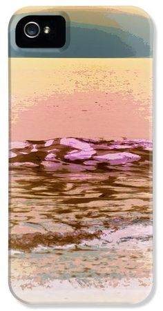 Buy iPhone Case featuring artwork by Laurie Pike. Love this beach and sunset. Coloring is so different.