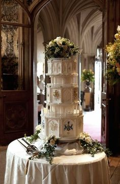 Matthew and Mary's wedding album #DowntonAbbey  Wonder how many guest would show up for a piece of this amazing wedding cake.