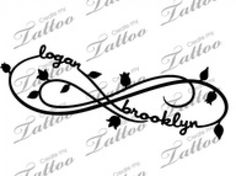 Love Love Love Kids Names Infinity Tattoo | Ruth Tattoo Ideas