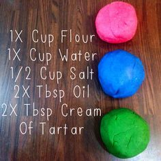 Trendy Diy Baby Stuff For Boys Homemade Play Doh Ideas Cream Of Tartar Recipe, Cream Of Tarter, Craft Activities, Toddler Activities, Nursery Activities, Everyday Activities, Projects For Kids, Diy For Kids, Toddler Crafts