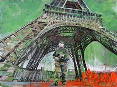 """Saatchi Art Artist Wim Carrette; Painting, """"Paris 2015 - End of Socialism"""" #art"""