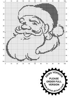 "Photo from album ""Рукоделие"" on Yandex. Santa Cross Stitch, Counted Cross Stitch Patterns, Cross Stitch Designs, Cross Stitch Embroidery, Crochet Santa, Crochet Christmas Decorations, Filet Crochet Charts, Fillet Crochet, Easy Crochet Patterns"