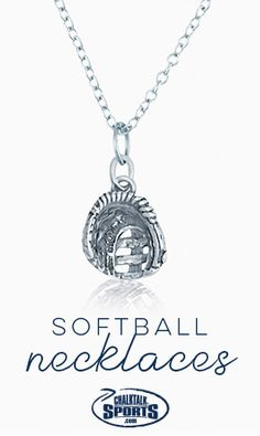 Sterling Silver Softball Glove Necklace