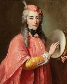 Portrait présumé d'Anne Louise Baronne de Montfauvet, French school. European Dress, Historical Art, Red Hats, Magazine Art, Classic Beauty, Art Market, Aesthetic Art, 18th Century, Baroque